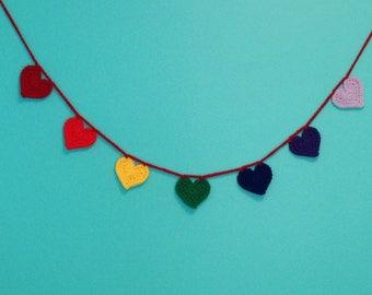 Rainbow Heart Garland, Rainbow Baby Nursery Decoration