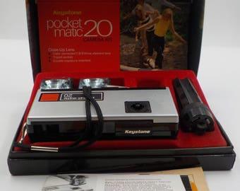 Vintage Keystone Pocket Matic 20 Camera and Kit f:9.0 Lens - Berkey