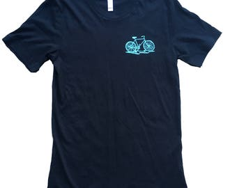 Hands Tied Just Ride- Mens T Shirt, Unisex Tee, Coton Tee, Handmade graphic tee, Bicycle shirt, Bike Tee, sizes xs-xxl