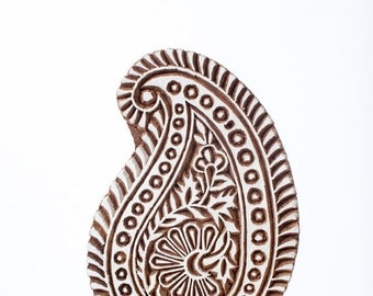 50% off Hand carved wood stamp 296