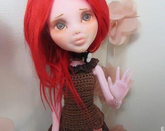 Amelia- Repaint OOAK Monster High Draculaura Doll
