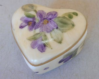 Heart Shaped Violet Tooth Fairy Box