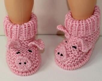 40% OFF SALE Instant Digital File pdf download knitting pattern Toddler Piggy Boots knitting pattern