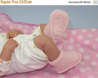 40% OFF SALE Instant Digital File PDF Download Knitting Pattern - Just for Preemies Premature Baby 4ply Garter Stitch Bumper Booties