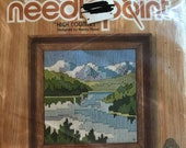 1980 Jiffy Needlepoint Beginners High Country by Nancy Rossie - Long Stitch Project Kit #5854