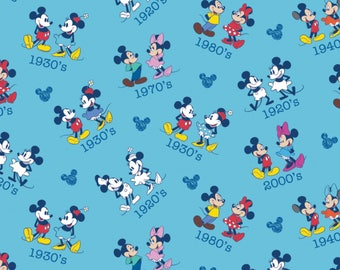 DISNEY MICKEY & MINNIE Toss - Minnie Mouse - Mickey Mouse - Years for Mickey - by the yard
