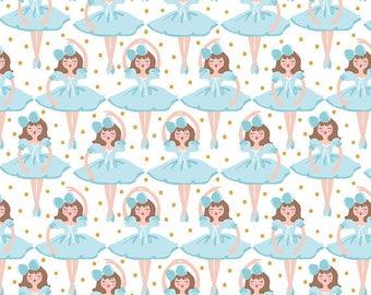 Blend Fabrics by Maude Asbury Snowflake Waltz Clara in White