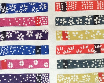 Katazome Washi Japanese Paper Sheet 18x24 inches - multicolor bars
