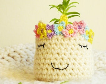 Unicorn Head Planter - Animal Head Planter - Succulent Planter - Unicorn Lover Gift - Crochet Unicorn Planter - Wedding Gift - Gift for Her