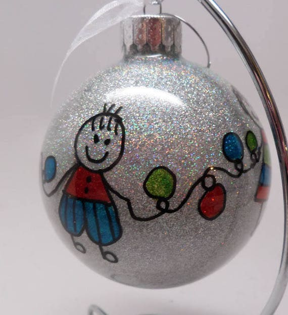 Christmas Ornament People celebrating Christmas can be personalized