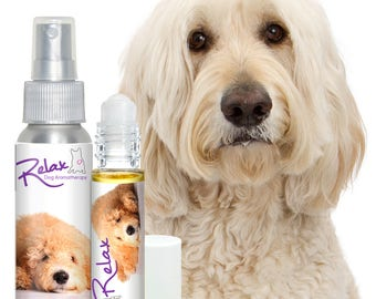 GOLDENDOODLE RELAX Dog Aromatherapy  for Anxiety, Stress, Separation, Travel, Thunderstorm Fear and Loud Noise Concerns in Dogs