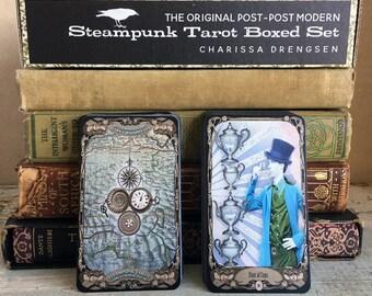 BOX SET Steampunk Tarot Deck & Book