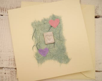 Bespoke, hand made greeting card, Ceramic card/gift. Blank for all occasions.