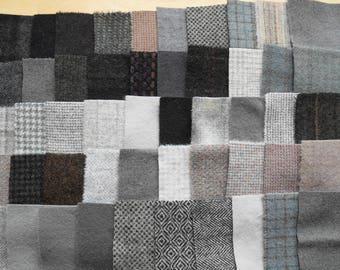 Teinte de vente à la main en laine feutrée des chutes lot numéro 1305 quilting Acres