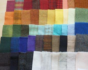 Teinte de vente à la main en laine feutrée des chutes lot numéro 1299 quilting Acres
