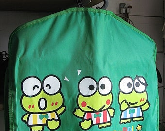 Keroppi Vintage Sanrio Garment Bag Like New Probably Never Used 1991 Has Hanger Fold Out Zipper Bag Plus Plastic Pouches Primo Read Details