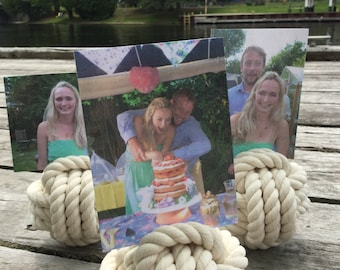 Birthday Photo Holders - Cream holders - Blue Available - 10 Holders - Birthday Pic Holders - Birthday Party Ideas - Sailor Birthday