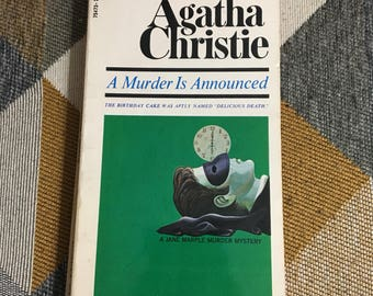 Vintage 1970 Agatha Christie A Murder is Announced Paperback Book