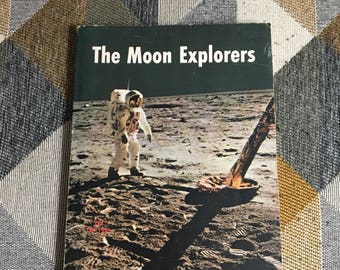 Vintage 1970 The Moon Explorers Book Scholastic