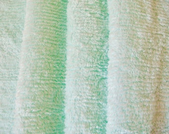 Sweet, Soft Pastel Green Ribbed Cotton Chenille Fabric 18 x 24 Inches
