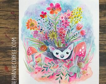 GRAB BAG Originals - Flowery Hedgehog