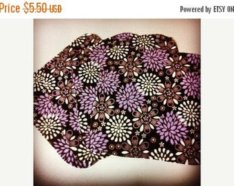 On Sale Purple Mums- Set of 4 wipes - flannel and OBV - SOFT - 8x8 size
