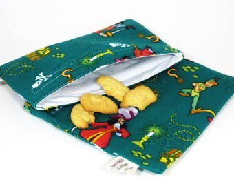 Hook and Pan Sandwich and Snack Bag Set, Reusable