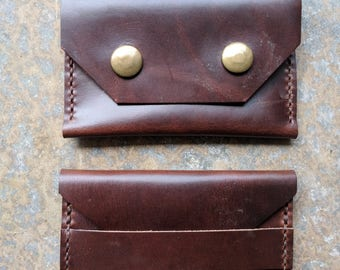 Brown Horween Chromexcel Leather Wallets