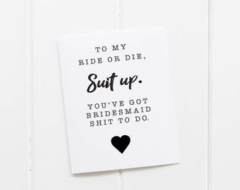 Will You Be My Bridesmaid Printable - 4 x 6 size