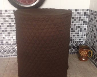 Brown Round Crock Pot Cover or Storage Utensils Cover Ready To Ship