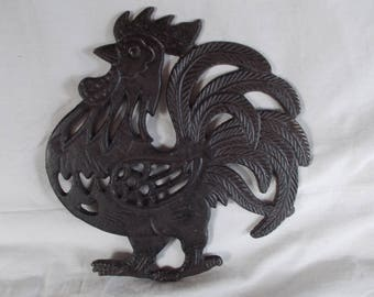Vintage Heavy Metal Rooster Hot Plate