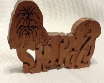 Shih-Tzu Scroll Work Puzzle