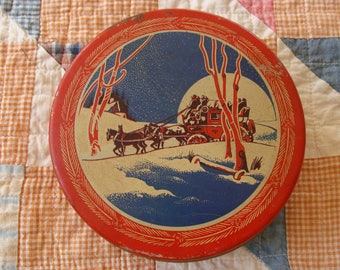 To Grandmother House we go .... Vintage/Antique Candy Tin