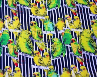 """Parrot Fabric -  By the Yard - 55"""" Wide"""