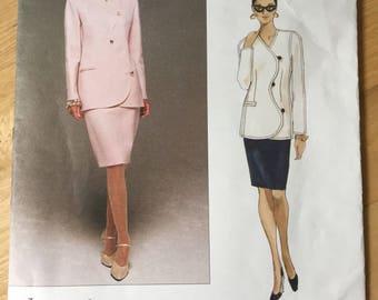 Vogue Pattern 1706 American Designer Bill Blass Suit Jacket and Skirt 14-16-18