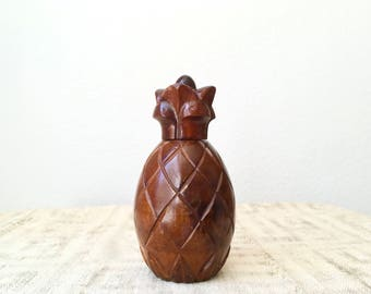 Vintage Mid Century Wooden Pineapple Nutcracker by Gallery Originals