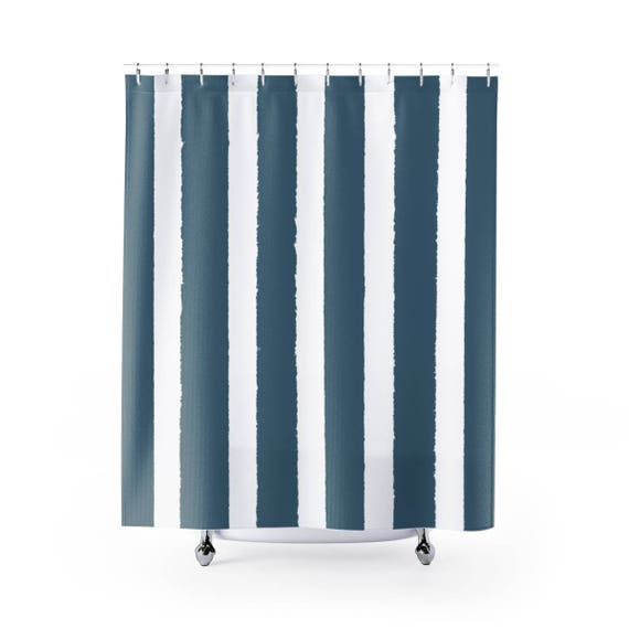 Teal Shower Curtain . Teal Striped Shower Curtain . Modern Teal Shower Curtain . Shower Curtain . Teal Striped Shower Curtain . Teal Bath