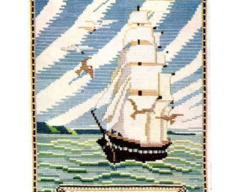 Pearsall's 2nd Book Cross Stitch Ship Under Sail Birds Butterflies Flowers Fish Ark and Animal Counted Cross Stitch Embroidery Craft Pattern