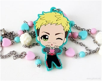 Yuri on Ice Christophe Giacometti Kawaii Necklace, Anime Jewelry, OOAK