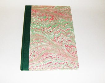 Marbled paper  book recipes. Hand bounded   cm 17 x 24 cm.  1005