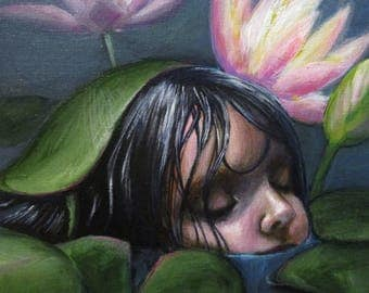 Lilies - original painting by Kellie Marian Hill