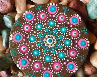Handpainted Wooden Mandala Magnet