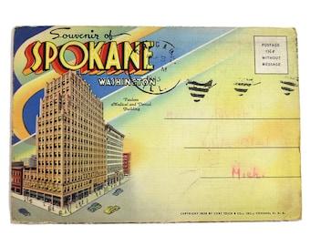 Vintage Spokane, Washington Souvenir Folder