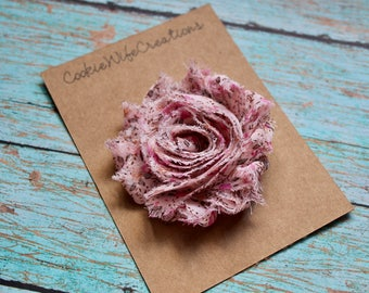 Shabby Country Rose Flower Hair Clip