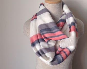Striped Cotton Gauze Scarf