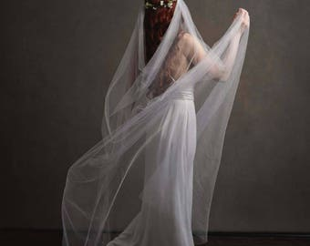Reserved for Bryony Higgins - veil with ribbons