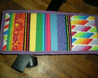Car Truck Van Vehicle Visor CD DVD Holder 11 Pockets Rainbow
