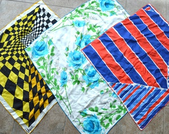 Lot of 3 Vintage Vera Neumann Silk Scarves