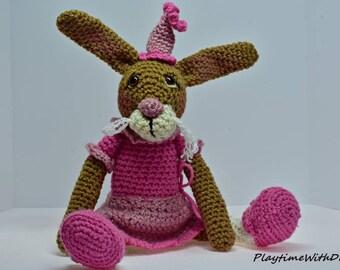 Crochet Stuffed Animal, Toy Rabbit, Stuffed Animal, Handmade Stuffed Animal, Crochet, Plushies, Stuffed toys, soft toy, crochet toys