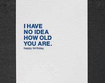 no idea. letterpress card. #008